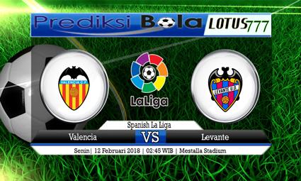 PREDIKSI  SKOR  Valencia vs Levante  12 Februari 2018