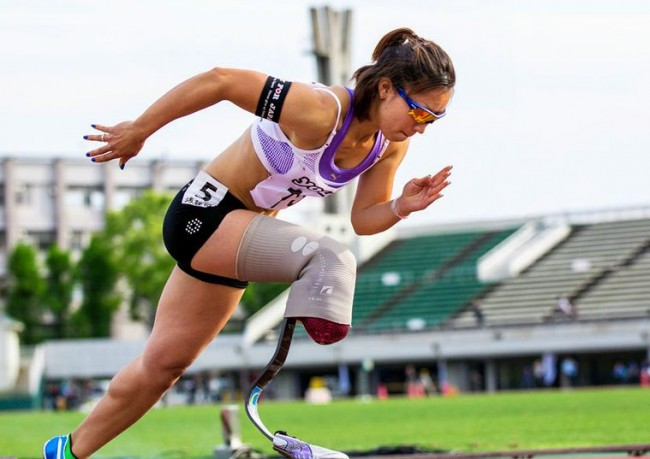27-year old Japanese sprinter Maya Nakanishi deserves a list of her own. Firstly, Nakanishi is Paralympic athlete and is missing the lower half of her right leg. Secondly, she's bankrolling a new prosthetic and a trip to this year's London Paralympic Games by stripping down for a nude photo calendar. It's beautiful, and a lot like that episode of 'Saved By The Bell' where Zack photographs the swim team for the school store.
