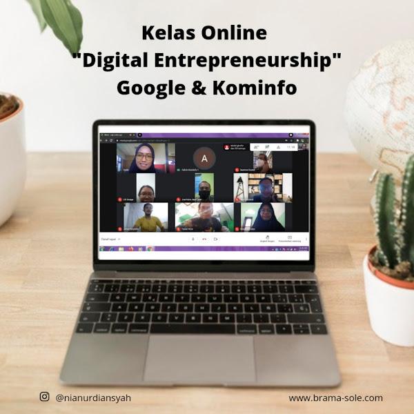 kelas online Digital Entrepreneurship-nya Kominfo