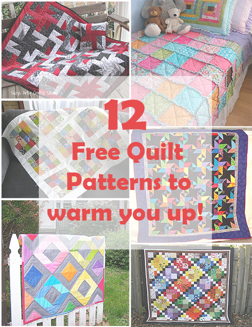 12 Free Quilt Patterns to warm you up!