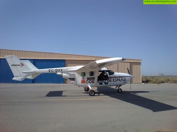 La Consejería de Seguridad incorpora hoy un avión de monitorización y seguimiento de la actividad sísmica de La Palma