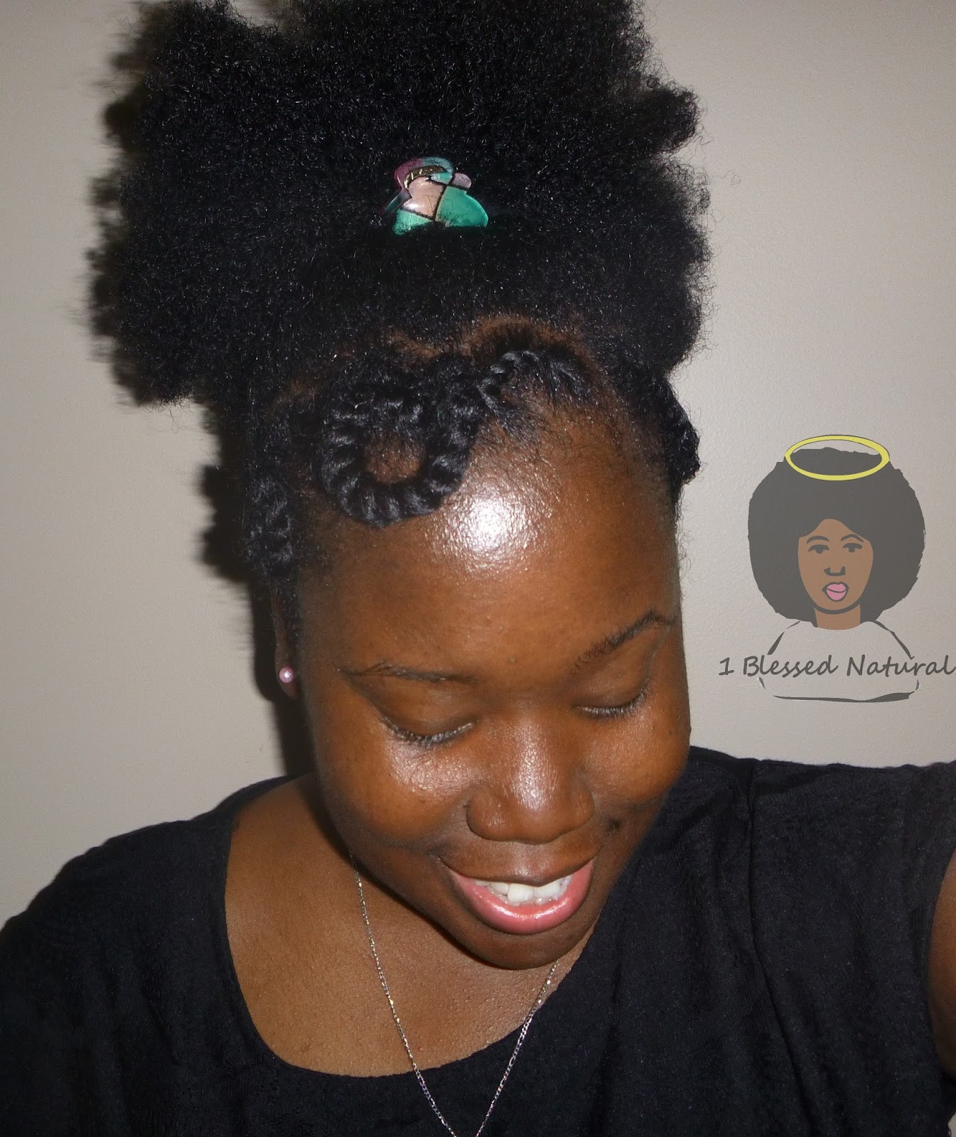Natural Hairstyle Curvy Twists With Puff