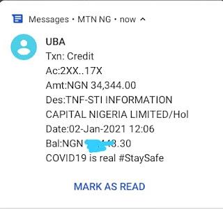 Uwork payment Alert
