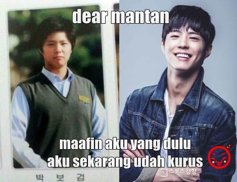 Luarbiasa!!! Aktor Korea Juga Ikutan Meme 'Dear Mantan, Maafin Aku yang Dulu'
