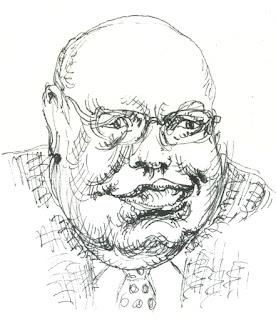 Porträtzeichnung, Peter Altmaier, Sprecher, Angela Merkel, Deutschland, Kanzlerin, Kanzlersprecher