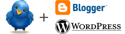 Blogger + twitter + wordpress