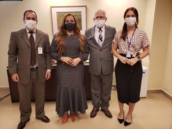 Reitora da UFERSA faz visita de cortesia ao desembargador Gilson Barbosa