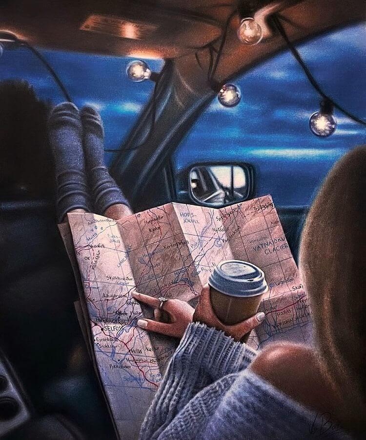 01-Map-and-coffee-drawing-Saketattoocrew-www-designstack-co