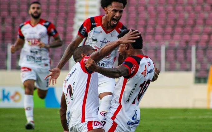 Campinense sai na frente, mas empata com o Sergipe em 2 a 2, em Aracaju