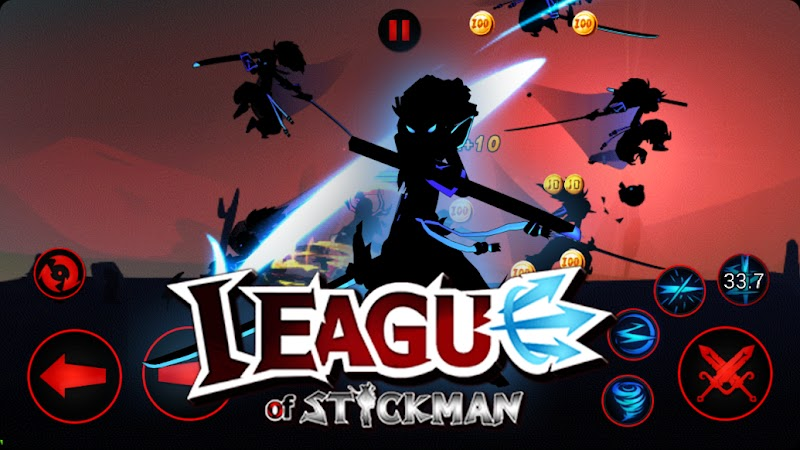League of Stickman 2018- Ninja Arena PVP v5.6.4 Apk Mod [Dinheiro Infinito]