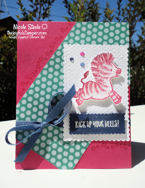 zany zebras, stamping, handmade card, celebrations, stampin' up!, how to make a card, learn to stamp, animals, card sketch