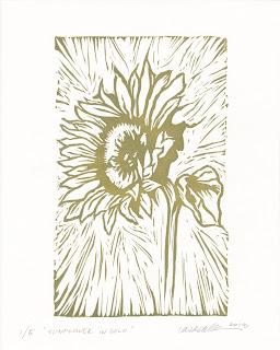 Sunflower in Gold