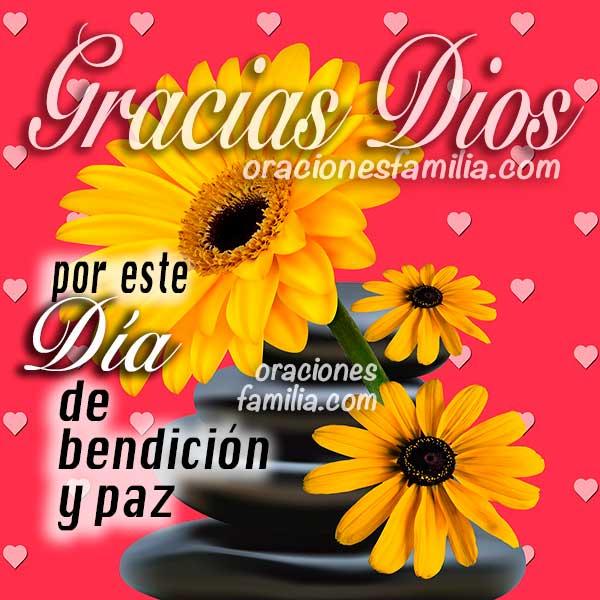 imagen con flores para dar gracias a Dios por este dia