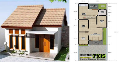 Denah Rumah Sederhana 3 Kamar Tidur Desain Rumah Minimalis