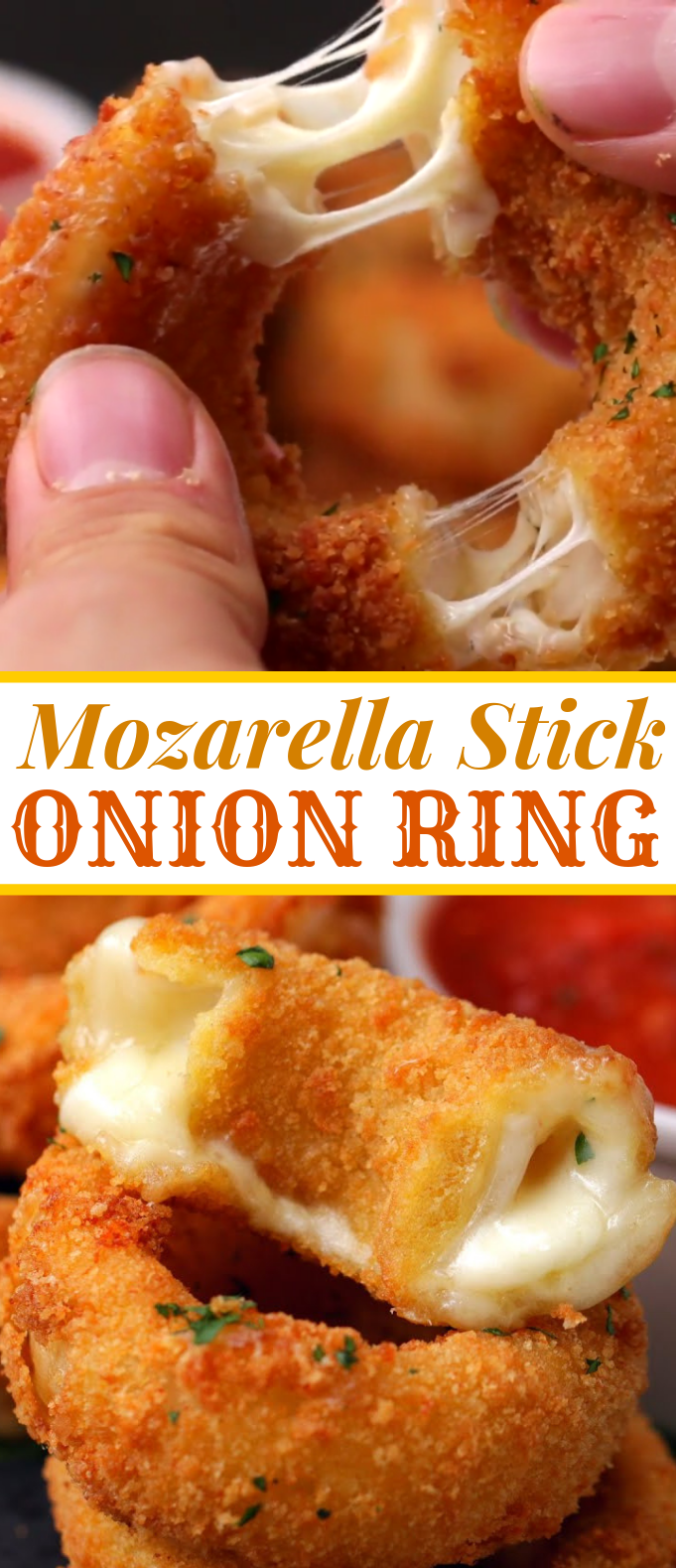 Mozzarella Stick Onion Rings #dinner #appetizer