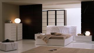 Dormitorio marrón chocolate y crema