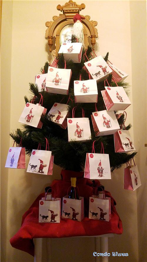 DIY Advent calendar countdown Christmas tree