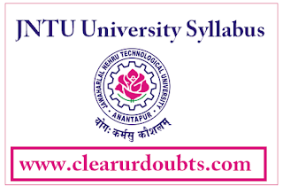 Jntu ug syllabus book download