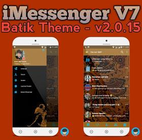 Download iMessenger Batik Theme New Version