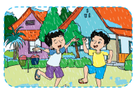 Anak-anak bermain hujan dengan gembira www.jokowidodo-marufamin.com