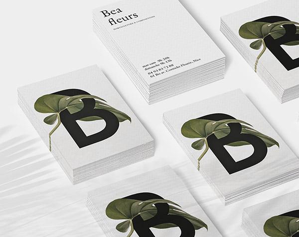 3 bea fleurs - Best Business Card Designs 2017