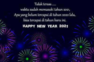 gambar kata ucapan selamat tahun baru 2021