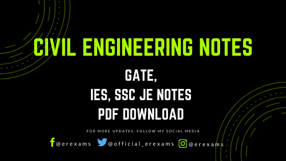 Civil Engineering Pdf Notes – GATE, IES, SSC JE Notes - ErExams - Engineering Exams Guidance RSS Feed  IMAGES, GIF, ANIMATED GIF, WALLPAPER, STICKER FOR WHATSAPP & FACEBOOK