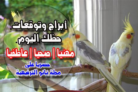توقعات عبير اللباد اليوم الأحد 29/3/2020