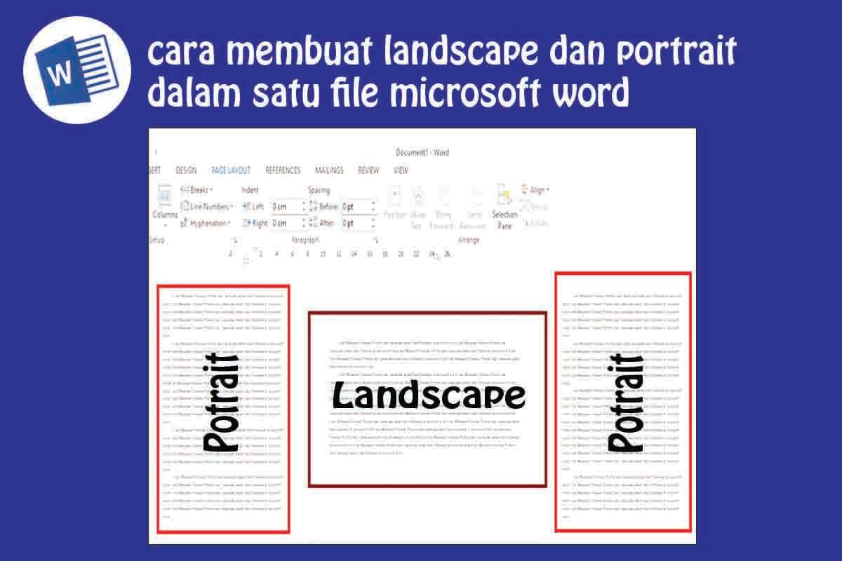 Cara membuat orientasi potrait dan landscape di word
