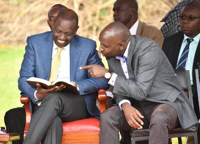 Senate Majority leader Kipchumba Murkomen with DP William Ruto