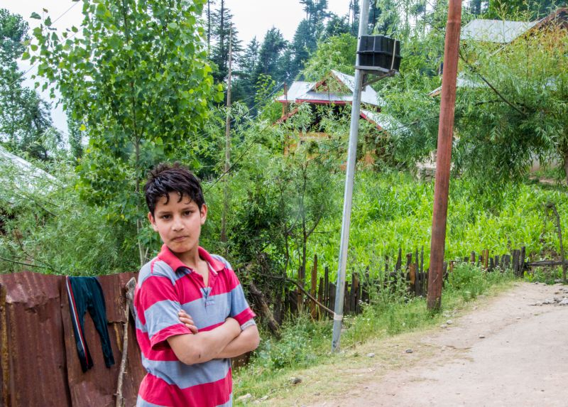 A young Kashmiri Lad at Chandigam - Lolab Valley