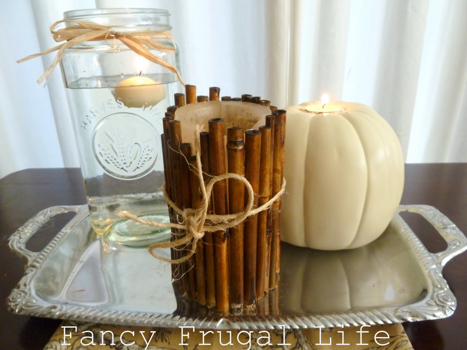 Simple Fall Wedding Centerpieces: Fancy Frugal Wedding Centerpieces & Sign