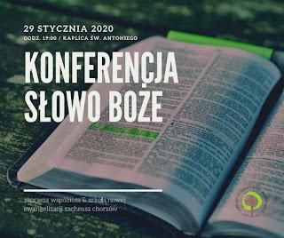 Konferencja - Słowo Boże | środa, 29 stycznia