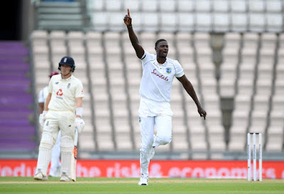 Jason Holder in England vs West Indies Test 2020