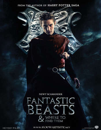 Poster Of Fantastic Beasts and Where to Find Them 2016 Hindi Dual Audio 400MB HC HDRip 480p Free Download Watch Online downloadhub.in