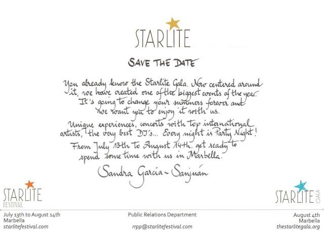 """Starlite Gala, la semilla solidaria de su hermano mayor """"el Starlite Festival"""". El autentico hit del verano 2012."""
