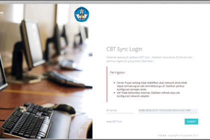 Error CBT Sync Login Ada Peringatan Server Pusat Tidak Diaktipkan dan VM Tidak Terkoneksi Internet