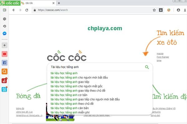 Tải Cốc Cốc - Trình duyệt CocCoc về máy tính, lướt web, tải file miễn phí e