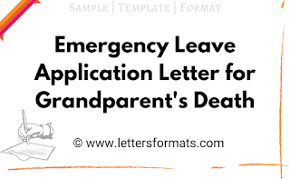 emergency leave application for death