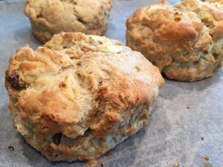 Pear, Goat's Cheese, Walnut Scones