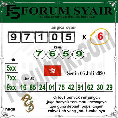 Forum Syair Hongkong Senin 06 Juli 2020