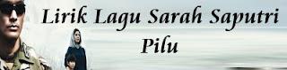 Lirik Lagu Sarah Saputri - Pilu