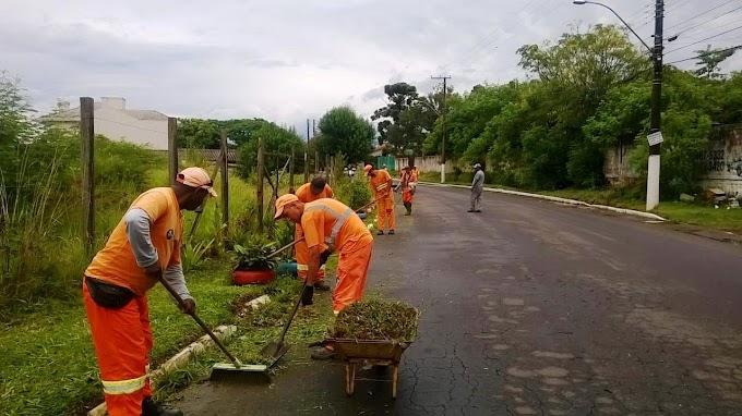 GRAVATAÍ | Prefeitura segue cronograma de ações na limpeza urbana nos bairros da cidade
