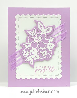 Stampin' Up! 2021-2023 In Color Cards using Penned Flowers and Scalloped Contours Dies ~ Fresh Freesia ~ www.juliedavison.com #stampinup #incolor