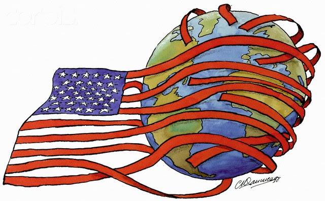 Maz Notebook: US imperialism political cartoon