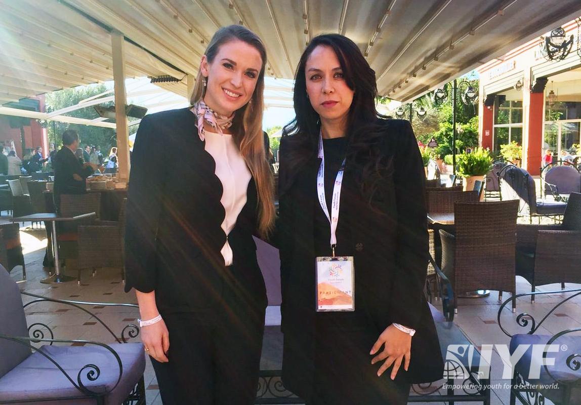 IYF President Julia BLOCHER with Dr. Sara Amar, IYF Representative in Morocco