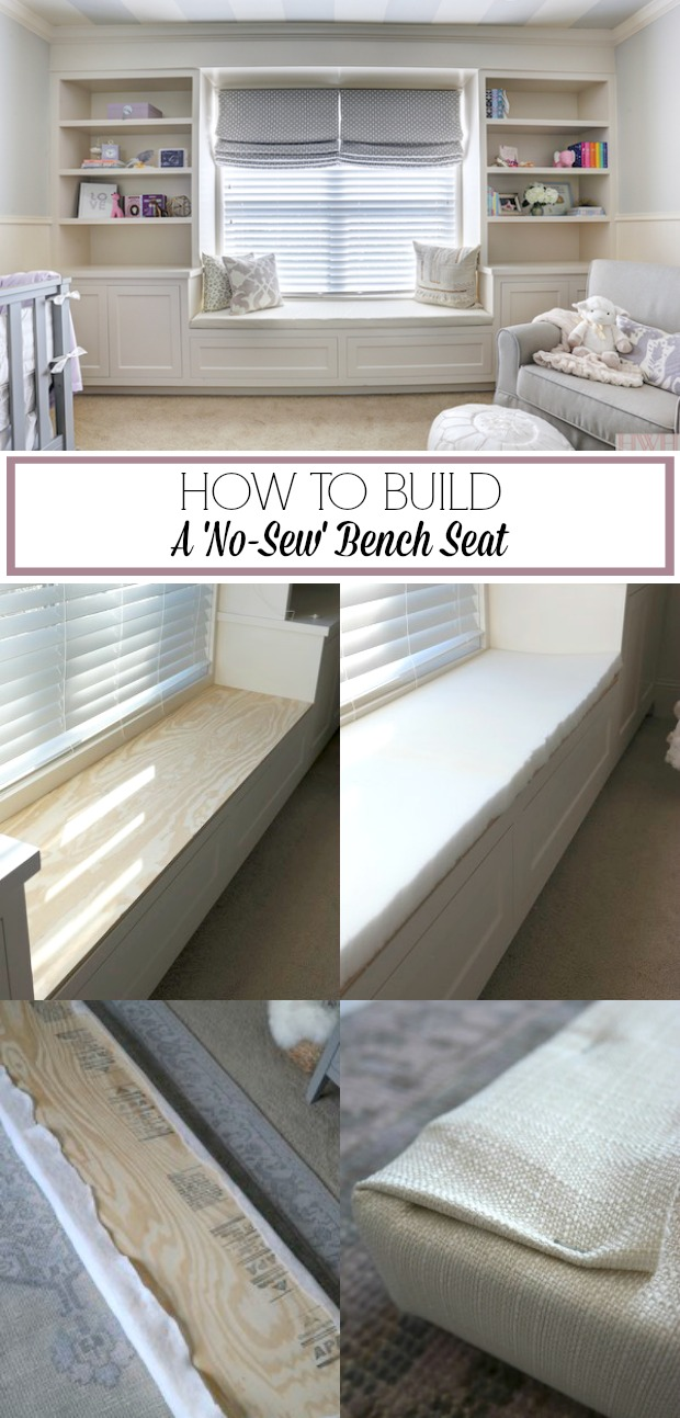 How to Build a No-Sew Bench Seat - an easy and inexpensive DIY project that doesn't take very long