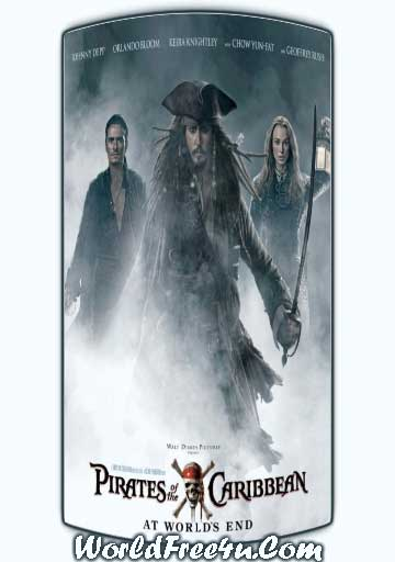 Poster Of Pirates of the Caribbean 3 (2007) Full Movie Hindi Dubbed Free Download Watch Online At worldfree4u.com
