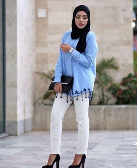 Padu Padan Baju Muslim Dan Jins Trend Busana 2016 Terbaru
