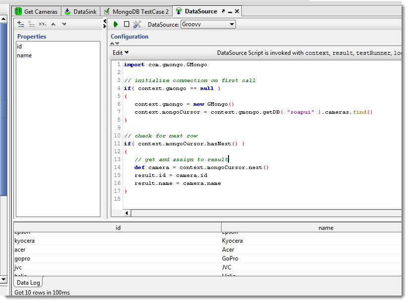 ole lensmar's blog: Using mongoDB with soapUI